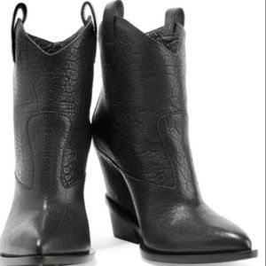 Giuseppe Zanotti +Hidden-Wedge Ankle Cowboy Boot